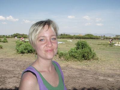 Maja Jakobsson in Orongo 2007