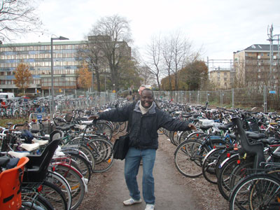 Bikes is how you transport in Uppsala!